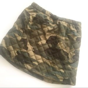 Crew Cuts Camo Quilted Mini Skirt